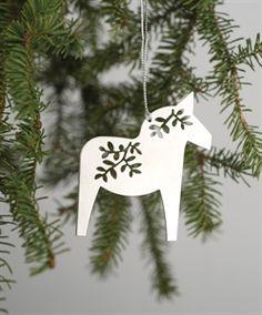 Show details for Laser-Cut Dala Horse Ornament Clay Christmas Decorations, Christmas Crafts, Christmas Ornaments, All Things Christmas, Christmas Time, Holiday, Scandinavian Christmas, Christmas Inspiration, Xmas Tree