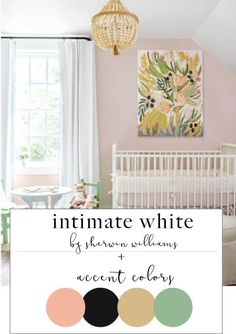 wall is SW intimate white | like the entire color scheme