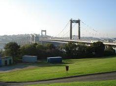 TAMAR BRIDGE AS SEEN FROM PLYMOUTH SIDE-Devon