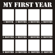 My First Year - 12x12 Overlay