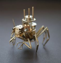 Recycled watches turned into creatures | Projects | Gear