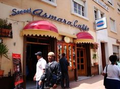 Asmara, Eritrea-located in downtown (or as the locales call it 'cathetama') Asmara