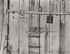 "WALKER EVANS, Kitchen Wall, Alabama Farmstead, 1936, silver print, printed 1974, ed. 75, 9 7/16"" x 11 15/16"""