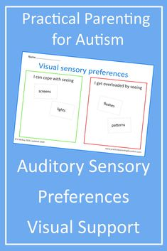 Hlep your child with #autism and sensory processing disrorder to self regulate their Auditory Sensory inputs with this DIY Visual Support activity from Practical parenting for Autism.