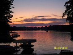 Algonquin lake sunset