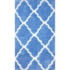 nuLOOM Modern Faux Sheepskin Lattice Trellis Shag Rug