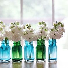 Easy and cheap craft: simple salt + pepper shaker painted vases tree glass crafts diy projects