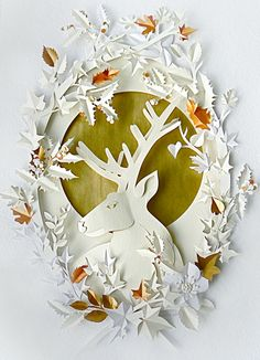 Gorgeous paper cutouts by Helen Musselwhite :: Chocolate & Cream Cake
