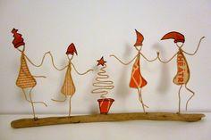 Les Lutins de Noël - figurines en ficelle et papier : Accessoires de maison par ficelleetpapier