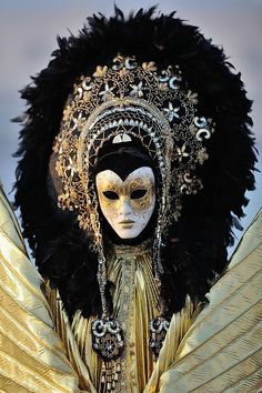 Venice Carnival -- It looks like some sort of god figure.