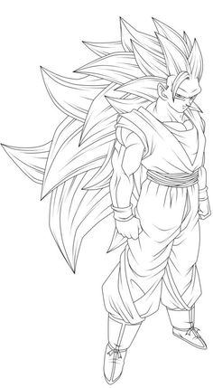 Super Saiyan Gohan (Kaioshin Outfit) [Line-Art] by AubreiPrince on DeviantArt Goku Drawing, Ball Drawing, Dragon Z, Dragon Ball Gt, Dbz Drawings, Super Coloring Pages, Goku Pics, Avengers Art, Pokemon Coloring Pages