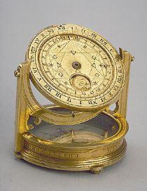 Equinoctial Dial Signed byChristoph Schissler circa 1570; Augsburg Gilt brass; 44 mm in diameter
