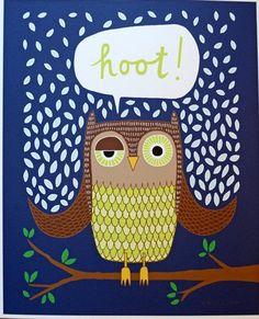 'Hoot Owl' by Rachel A. Roellke