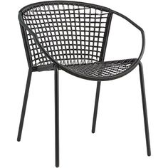 potential dining room chairs - this would look good with that industrial/rustic wooden slab table sophia black dining chair
