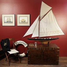 America's Cup Columbia 1901 Boat Model