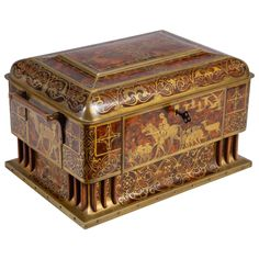 Art Nouveau Table Casket by Erhard & Söhne | From a unique collection of antique and modern decorative boxes at https://www.1stdibs.com/furniture/more-furniture-collectibles/decorative-boxes/