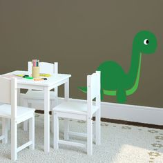 Dinosaur With Personalized Name Wall Decal Baby Dinosaurs And - Custom vinyl wall decals dinosaur