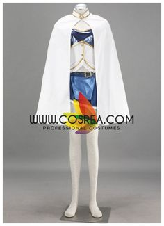 Costume Detail Puella Magi Madoka Magica Sayaka Miki Cosplay Costume Set Includes: Top, Skirt, Arm Band, Sleeves, Gloves, Waist Band, Leg Band, Cape, Soul Gem Please see individual tabs for informatio