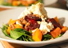 Awesome Cuisine gives you a simple and tasty Beetroot and Pumpkin Salad Recipe. www.awesomecuisine.com