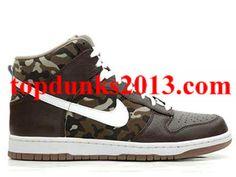 Review Premium Camo High Top Nike Dunk