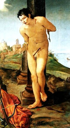 Carracci Annibale San Sebastiano (1383 ca.) olio su tela, cm 189x107 Dresda, Germania, Gemaeldegalerie