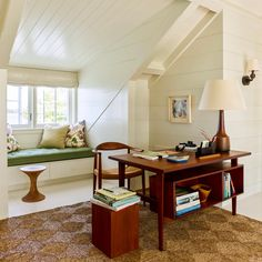 A Classical Designer's Modern House in Maine - The New York architect Gil Schafer, known for his historically focused houses, - The New York Times New York Times, Home Office, Corner Office, Study Office, Maine, Upstairs Loft, Traditional Interior, Guest Suite, House And Home Magazine