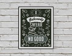 BOGO FREE! Solemnly Swear Cross Stitch Pattern, Harry Potter Qute Cross Stitch, TV- Movie, Home Modern Decor, pdf Instant Download #016-8-2 by StitchLine on Etsy