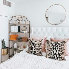 Get inspired by Glam Bedroom Design photo by Wayfair Professional. Wayfair lets you find the designer products in the photo and get ideas from thousands of other Glam Bedroom Design photos. Room Ideas Bedroom, Home Bedroom, Bedrooms, Glam Bedroom, Aesthetic Room Decor, Dream Rooms, My New Room, House Rooms, Room Inspiration