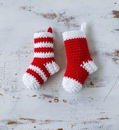 Crochet Mini Stockings Christmas Ornament