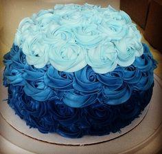 Purple Rose Cake My Baking Experiments Pinterest Nice My - Blue cake birthday