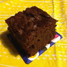 Chocolate butter mochi, aka the gluten-free brownie.  - elingeling = migration + rhinofluff