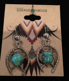 Navajo Vintage Sterling Silver and Turquoise Dangle Earrings by TheThunderBirdRanch on Etsy