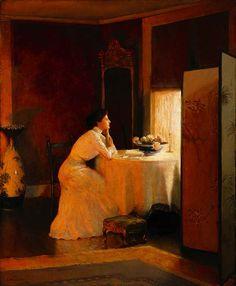 """""""Solitude,"""" William Worchester Churchill, 1911, oil on canvas, 30 x 25"""", private collection."""