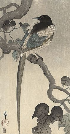 Chinese Magpie painting