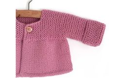 knit baby sweaters Knitted Baby Cardigan PINK LADY -Two needle Knitting Pattern amp; Easy Baby Knitting Patterns, Baby Cardigan Knitting Pattern Free, Baby Sweater Patterns, Knitted Baby Cardigan, Knit Baby Sweaters, Knitted Baby Clothes, Cardigan Pattern, Knitting For Kids, Knitted Baby Hats