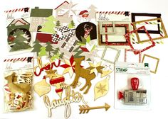 Today's Peachy Cheap deal is Heidi Swapp Christmas Embellishments and Stamp. You will receive Oh What Fun Ephemera die-cuts, Wood Veneers, Frames and a Roller Date Stamp with Christmas Phrases. ONLY $7.99