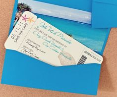 Boarding Pass Wedding Invitation Purchase by seasideinvitations