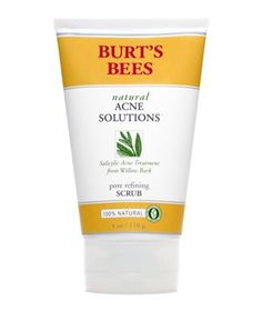 Burt's Bees Natural Acne Solutions Pore Refining Scrub | 6 Good Treatments for Adult Acne #realsimple