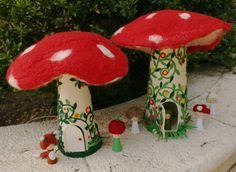 mushroom houses...I still have a picture I colored as a kid... of a mouse with a house just like this!
