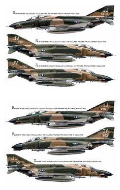 F-4E Mig Killers at Vietnam War 1972 - 1973 period.