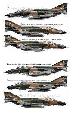 F-4E Mig Killers at Vietnam War 1972 - 1973 period.