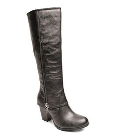 Another great find on #zulily! Black Luca Wide-Calf Boot #zulilyfinds