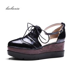 Carolbar Women's Punk Style Ankle Strap Buckle Lace-Up Platform Oxfords Sandals ** Sincerely hope that you actually enjoy the image. (This is our affiliate link) Shoes Heels Wedges, Women's Pumps, Women's Shoes Sandals, Wedge Sandals, Wedge Shoes, Oxfords, Summer Sandals, Oxford Platform, Oxford Shoes