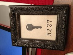I spray painted a key from our old house and framed it! All materials from Hobby Lobby Diy Wood Projects, Projects To Try, Creative Crafts, Diy Crafts, Paint Keys, House Keys, Hobby Lobby, Fun Ideas, Craft Ideas