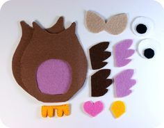 Free Felt Craft Patterns | , an owl craft made just for you! You can download a PDF pattern ...