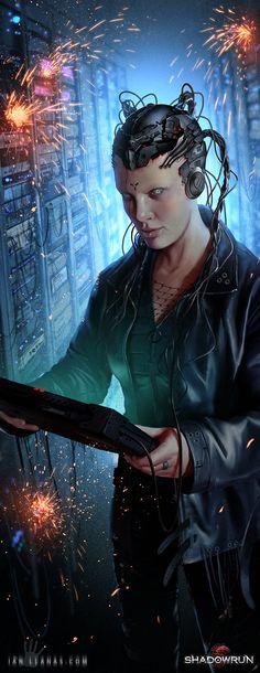 Head Computer by Ian Llanas #shadowrun #cyberpunk