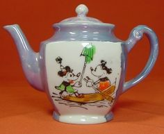 Mickey Mouse with Minnie Teapot...perfect teapot for Katie