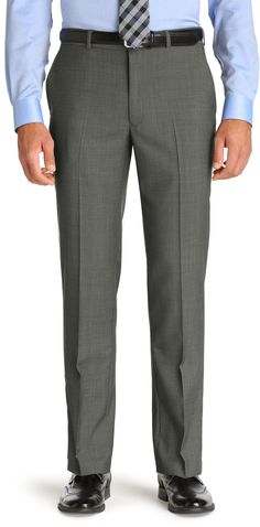 Traveler Collection Tailored Fit Flat Front Dress Pants CLEARANCE Dress  Pants, Mens Suits, Flats 68f3fda974