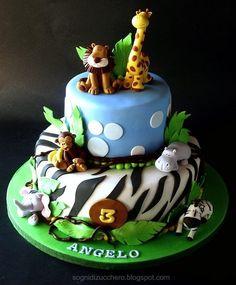 bolo selva animais