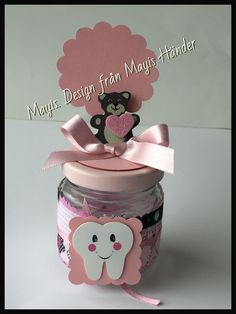My first Tooth favors. Mi primer diente recordatorio para Arroz con leche. Dental Cake, Tooth Cake, Baby Wedding, First Tooth, Girl Decor, Basket Decoration, Tooth Fairy, Baby Party, Baby Shower Themes